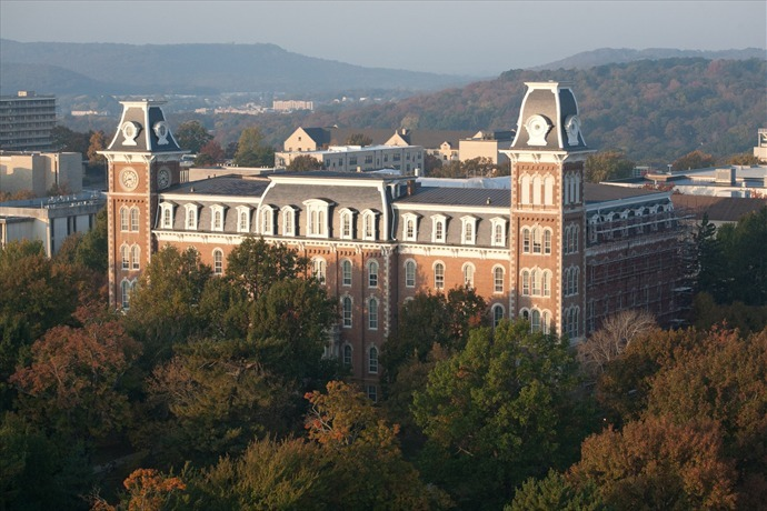 university of arkansas, campus, old main, fayetteville, u of a_9189911189010860761