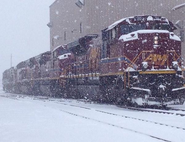 Arkansas Missouri Railroad Train in Winter_2467529134280822540