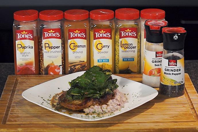 Cooking Today_ Pork Chops with Cauliflower Puree & Rainbow Chard_154558112155059495