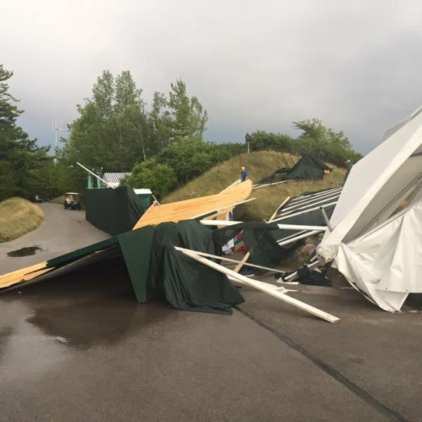 Storm damage at the PGA Championship in Kohler