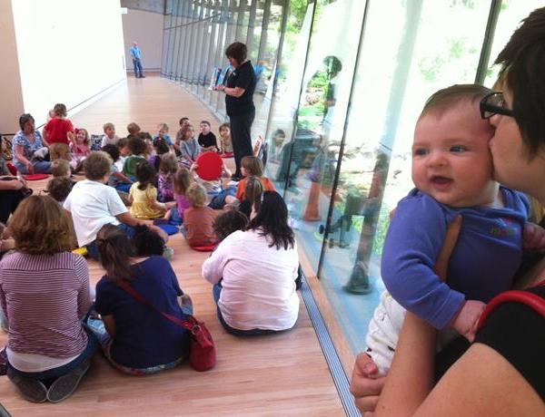 Preschoolers Ponder Artwork at Crystal Bridges_8374017275715733277