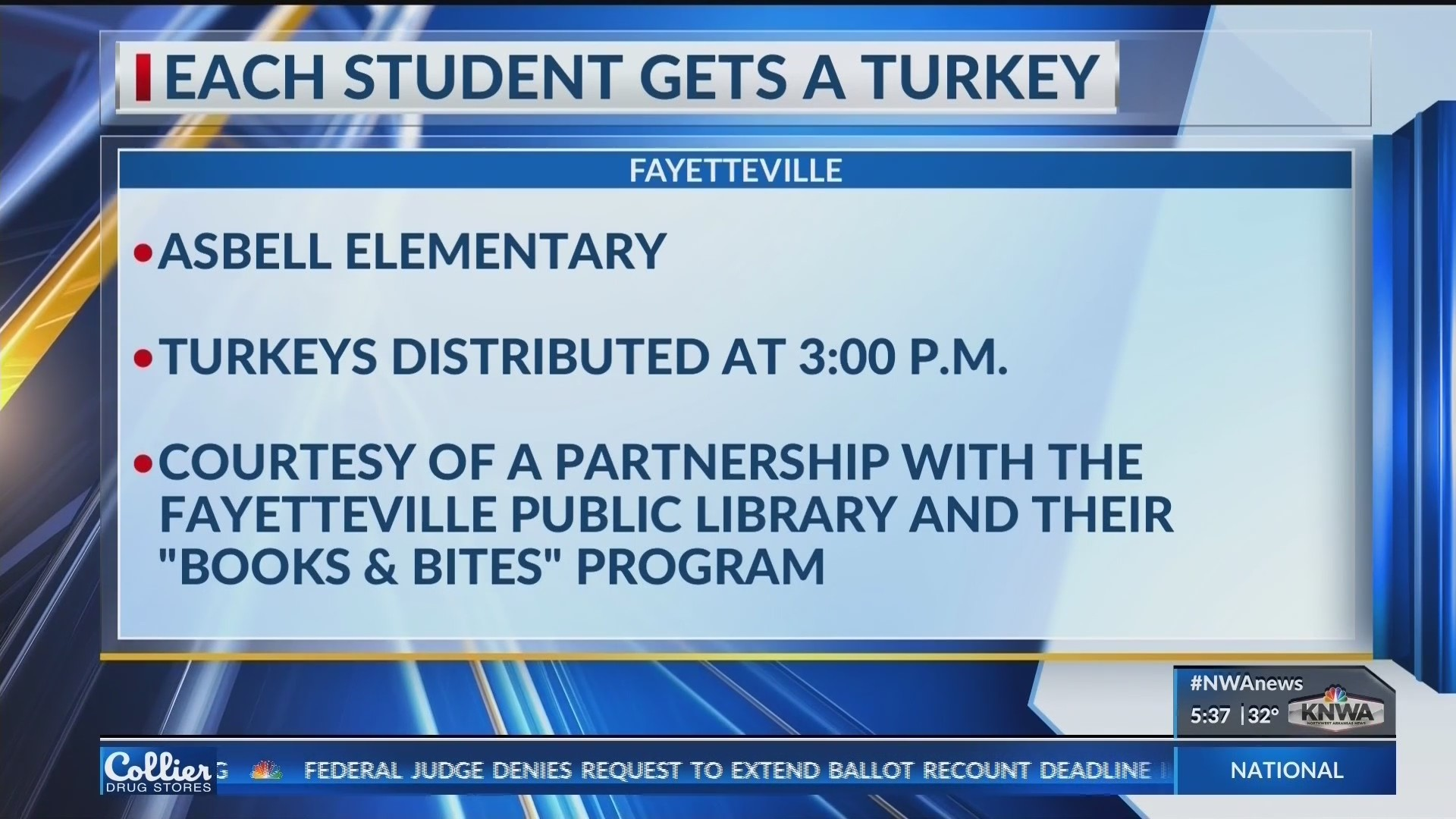 Asbell Elementary Students Receive Free Turkey