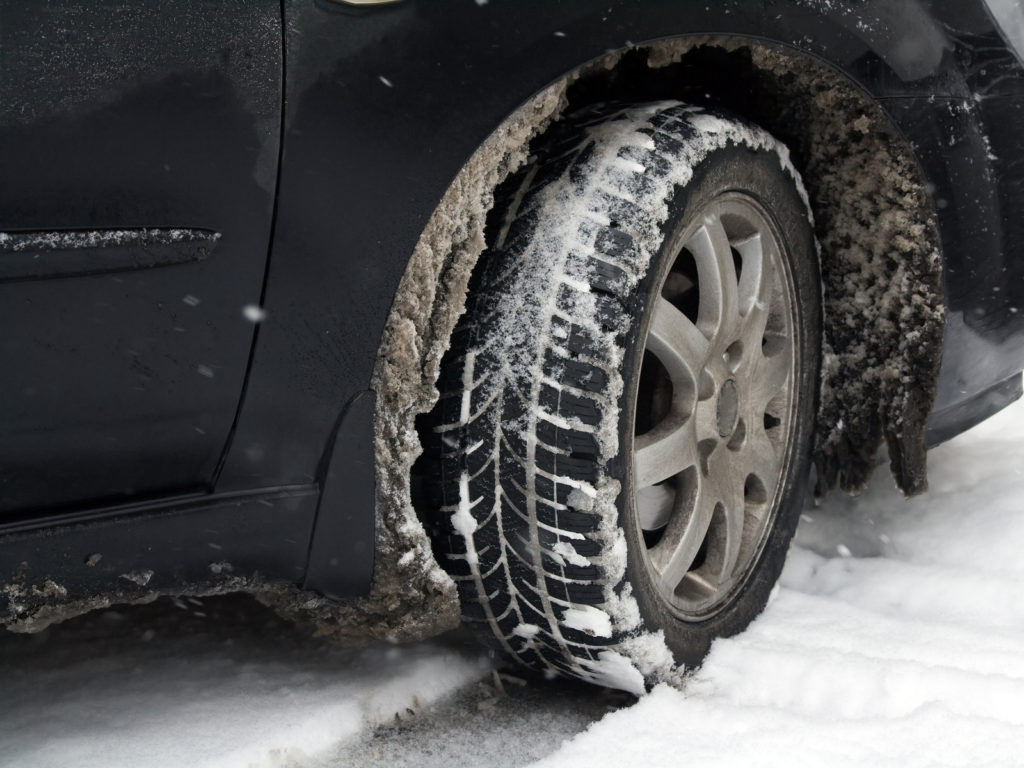 Dirty car tire with snow_1542067216287
