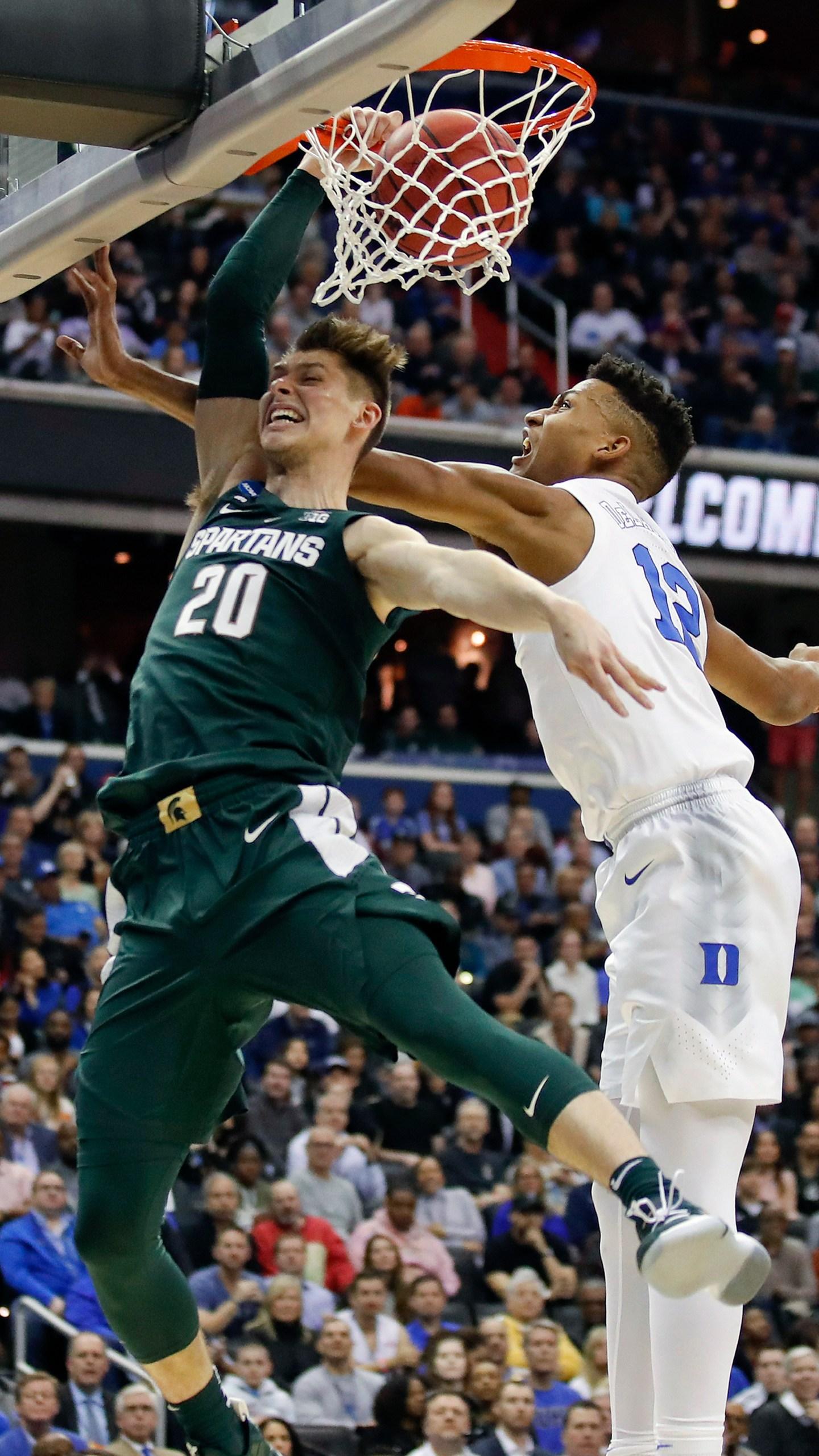 APTOPIX NCAA Michigan St Duke Basketball_1554075492811
