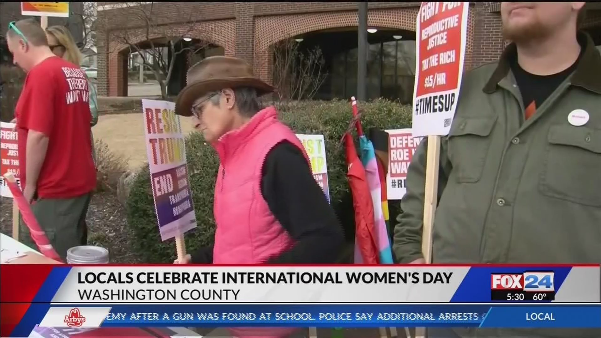 Protesters Fight for Women's Equality on International Women's Day
