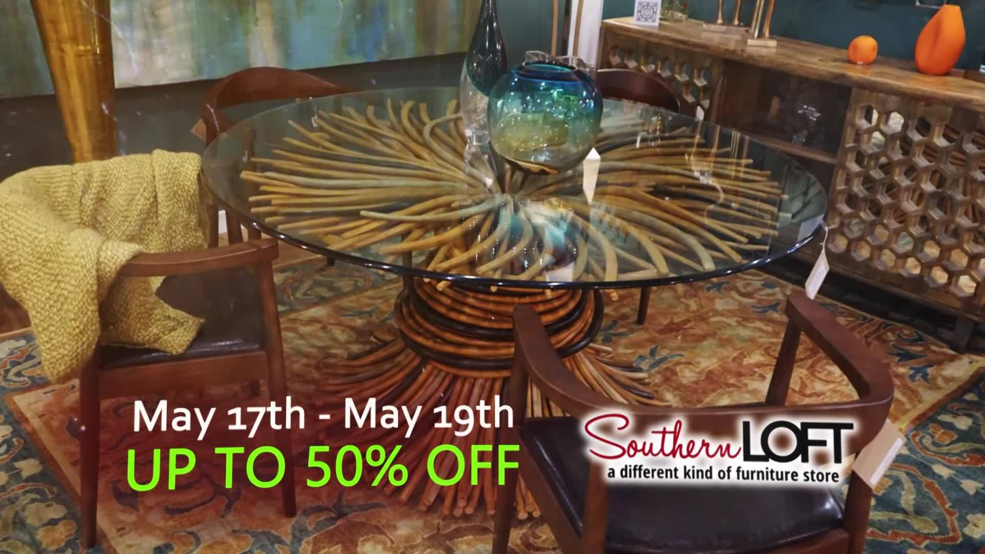 Southern loft a different kind of furniture store is having their Semi-Annual market Sale and it is better than ever! 