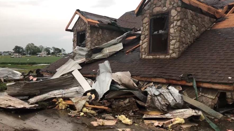 Damage in Wheaton after Possible Torando