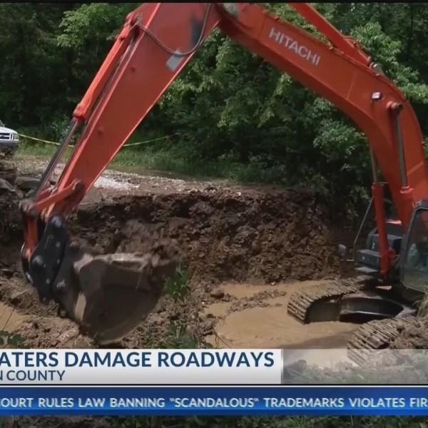 Floods damage roads in Washington County (KNWA)
