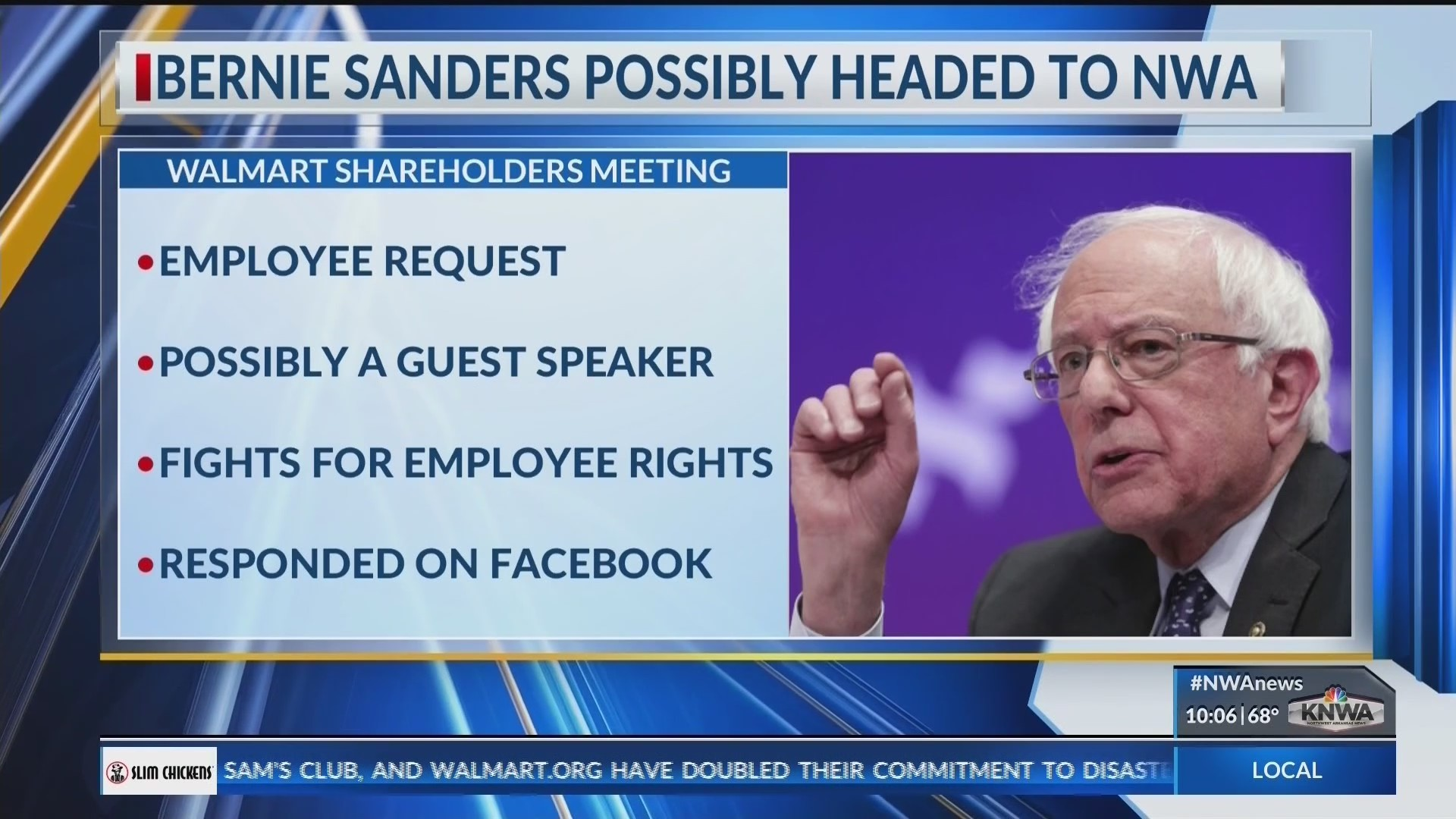 Sanders shareholders hit