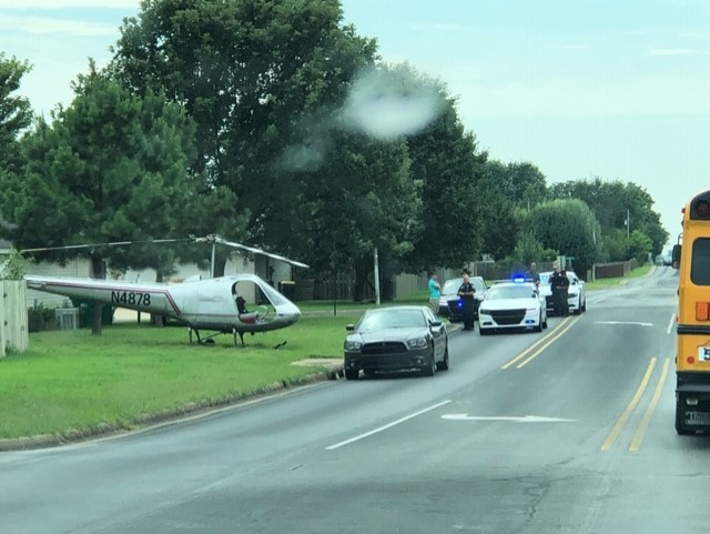 Helicopter lands in Lowell by First Tee