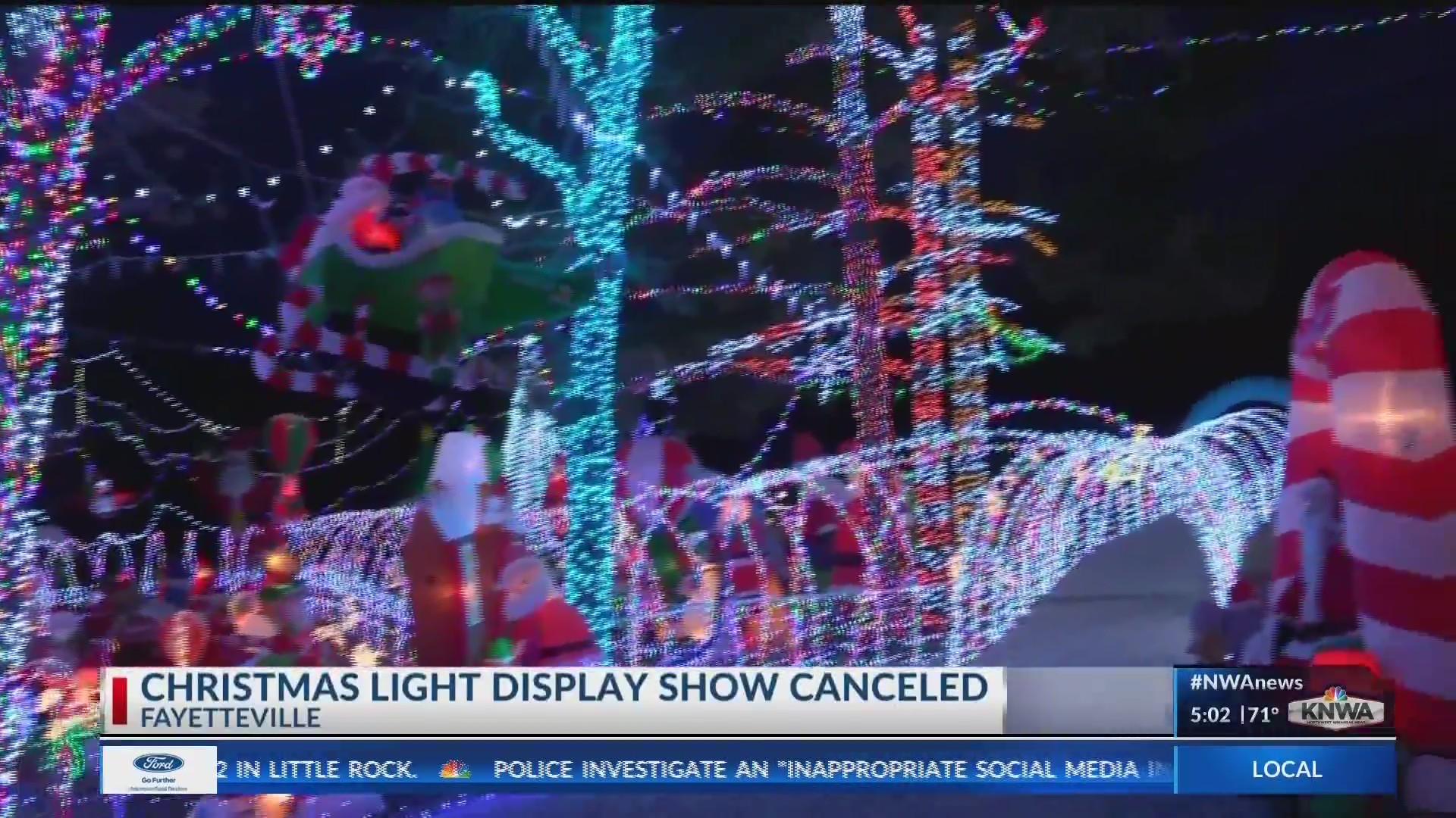 Nwa Christmas Lights 2020 Stewart family Christmas lights go dark