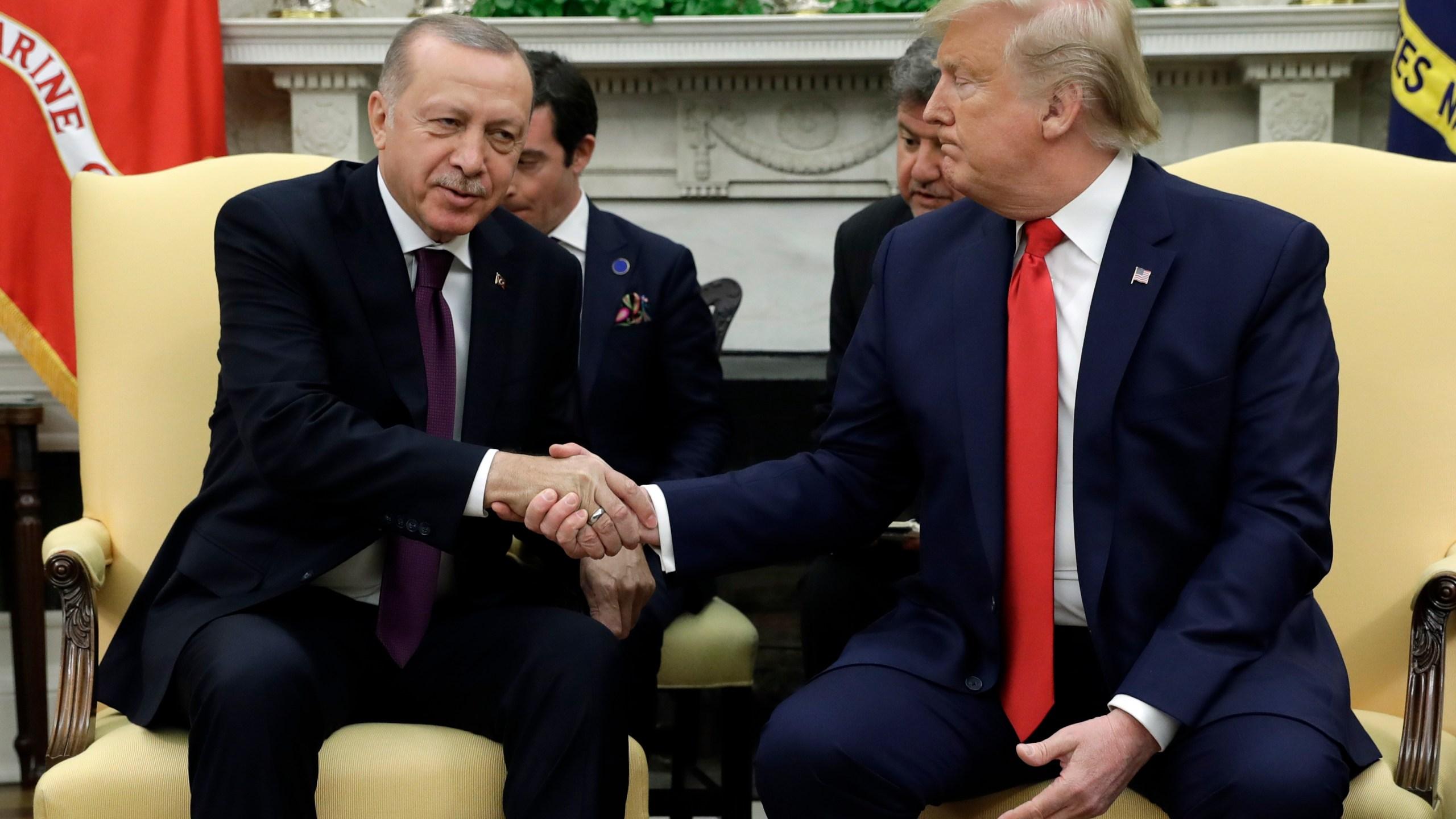 Donald Trump, Recep Tayyip Erdogan, Melania Trump, Emine Erdogan