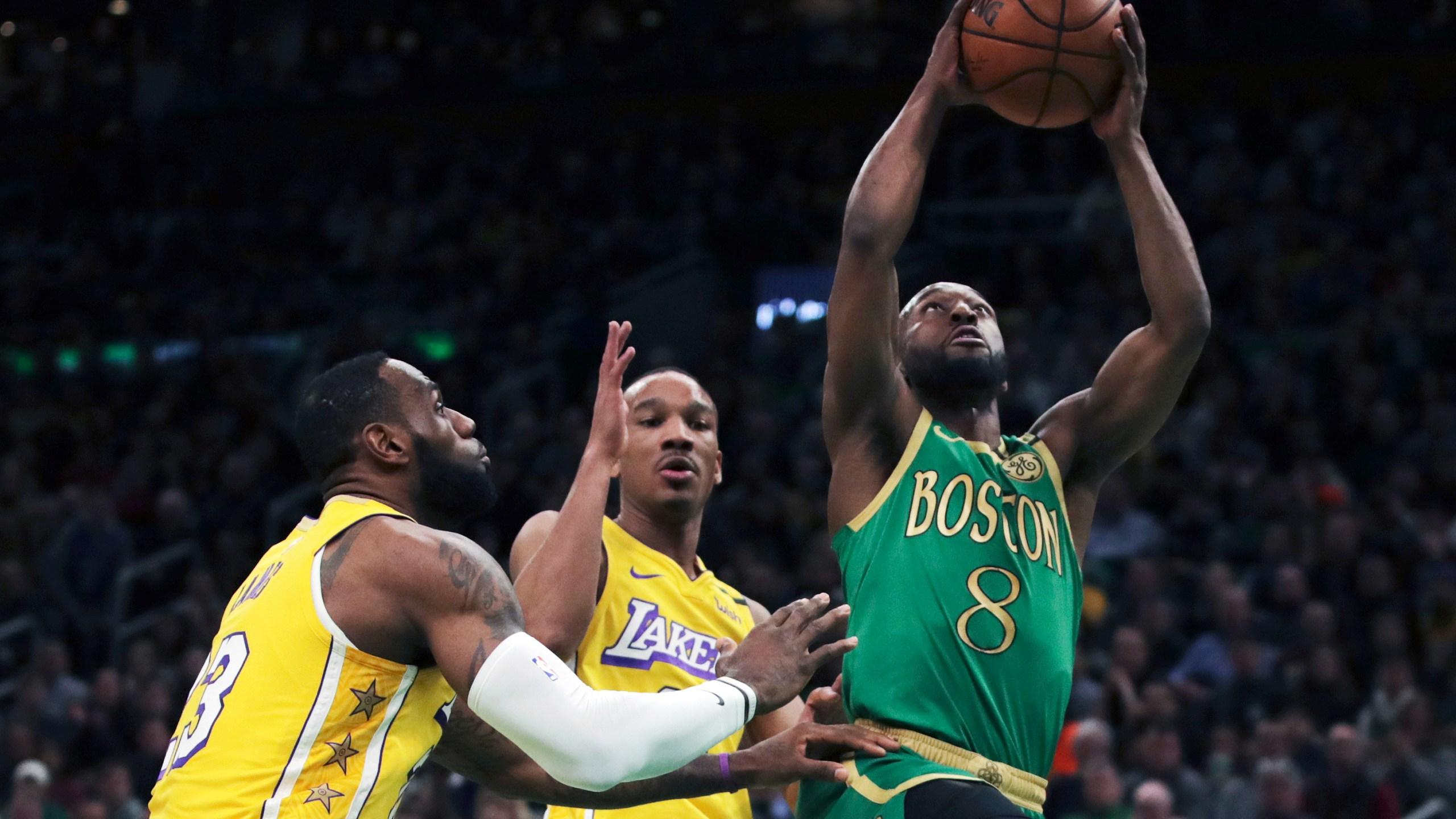 Kemba Beats Lebron For 1st Time Celtics Top La 139 107 Knwa Fox24