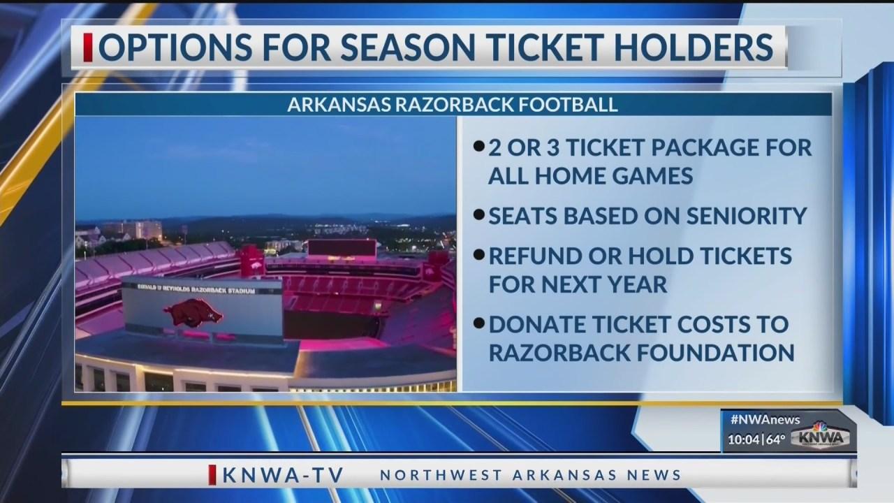 Options for Razorback football season ticket holders