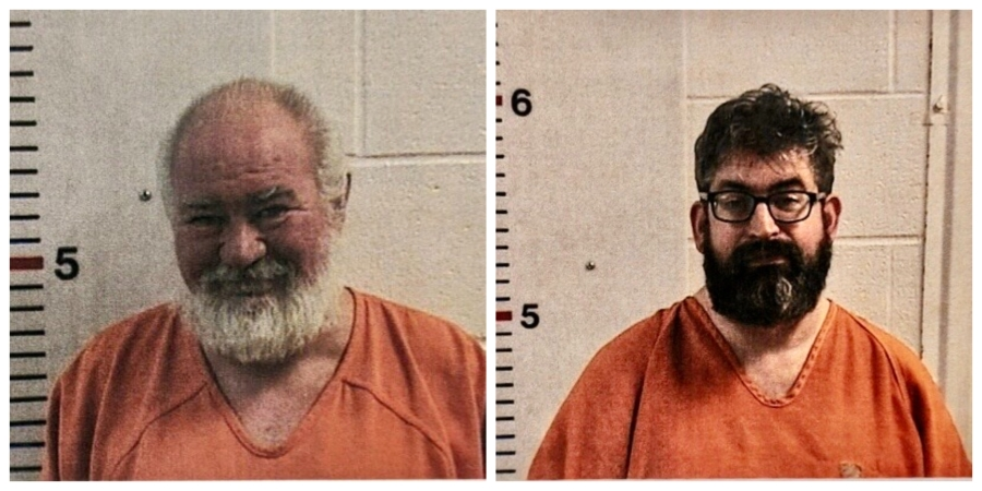 Two LeFlore County men arrested for numerous charges including desecration of a human member