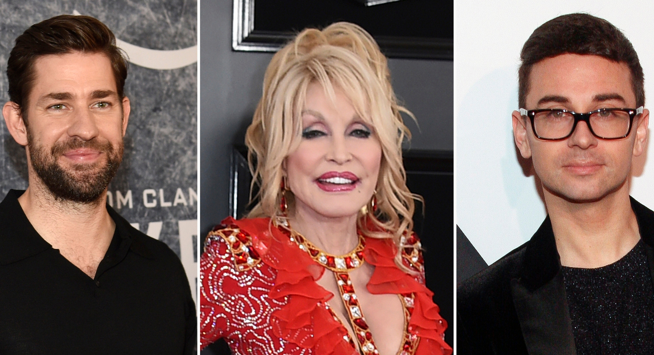 John Krasinski, Dolly Parton, Christian Siriano