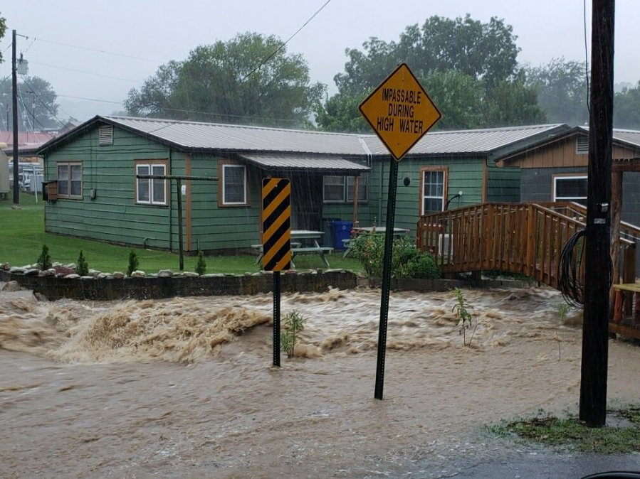 This image has an empty alt attribute; its file name is Les-Murphy_Dog-Branch-Flooding_8-11-2020.jpg