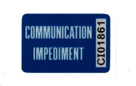State reports low distribution for communication impediment car decals