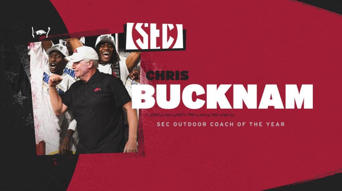 Chris Bucknam Earns Sixth SEC Outdoor Coach Of The Year Honor, 25th Overall    KNWA FOX24