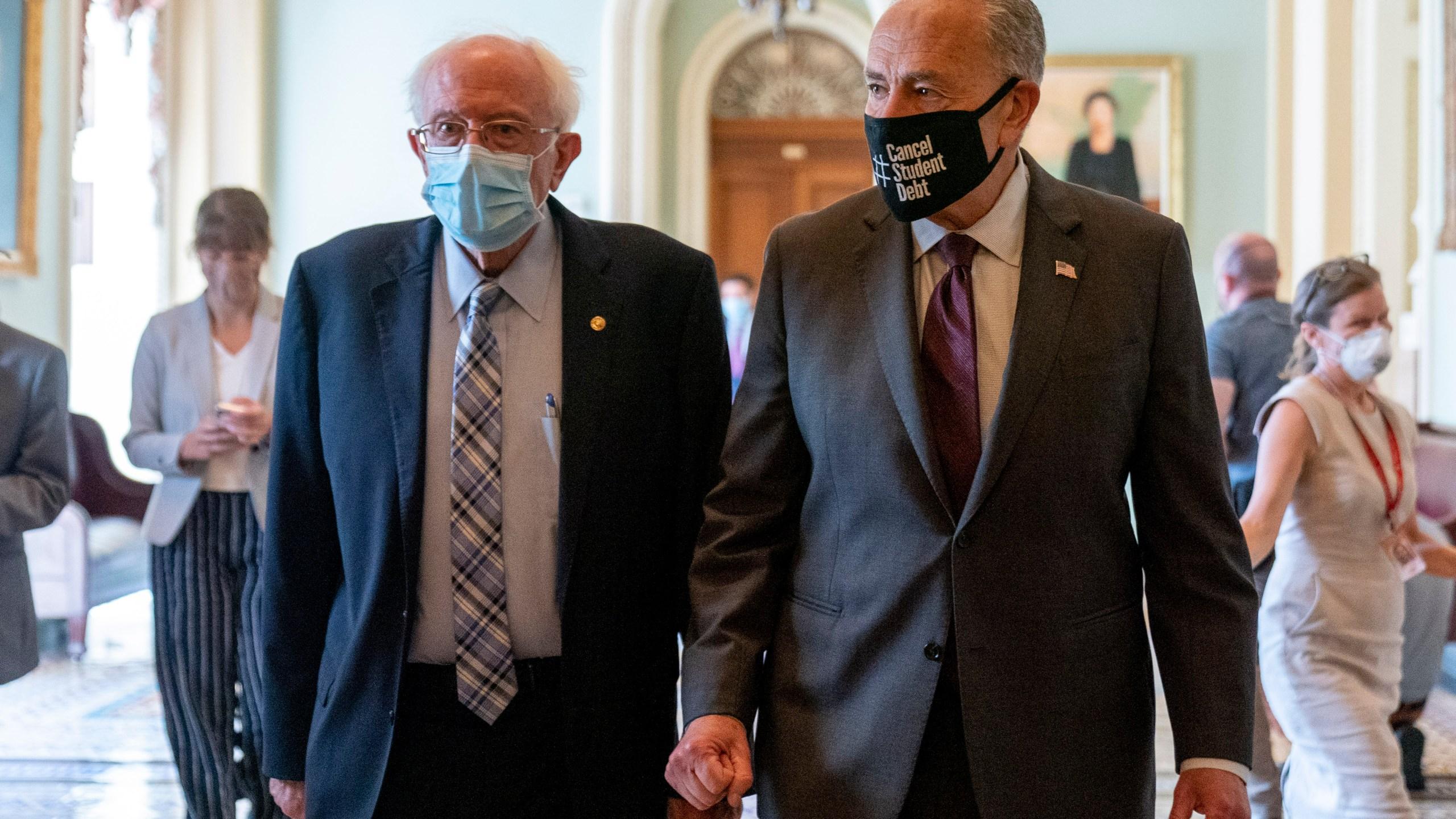 Bernie Sanders, Chuck Schumer