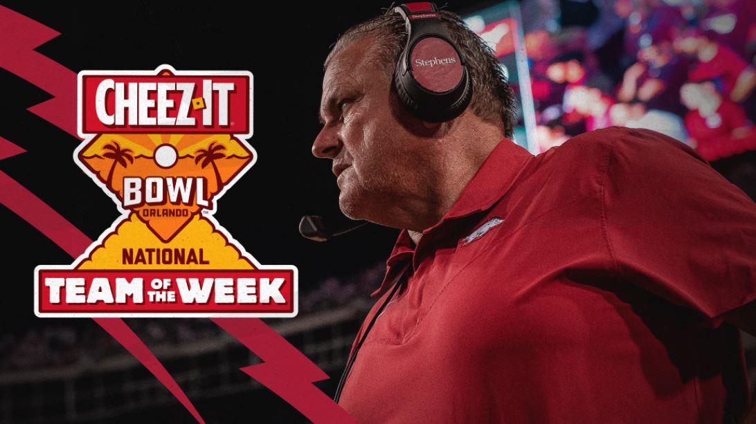 Arkansas Named Cheez-It Bowl National Team of the Week   KNWA FOX24